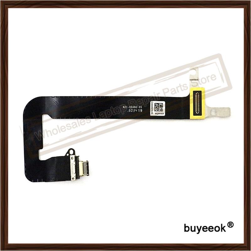 Original NEW A1534 I/O USB-C Board Power Jack Flex Cable 821-00482-05 821-00077-02 for MacBook Retina 12 2016 dalvey запонки dalvey 00482