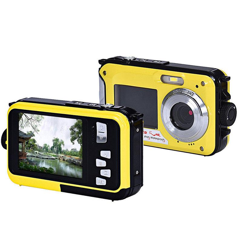 X digital zoom Dual Double Screen Waterproof Video Camera DV P HD