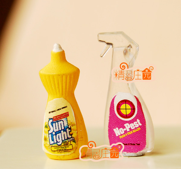 Galleria fotografica Mini dollhouse Furniture accessories for mini model Daisy potent decontamination detergent net cute kitchen