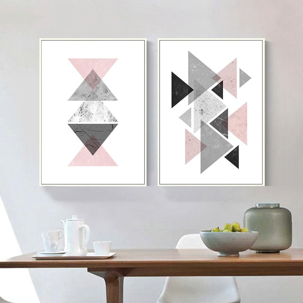 5 12 Triangles Géométriques Abstraite Toile Affiches Et Impressions Minimaliste Mur Art Peinture Décorative Image Moderne Décoration De La Maison In