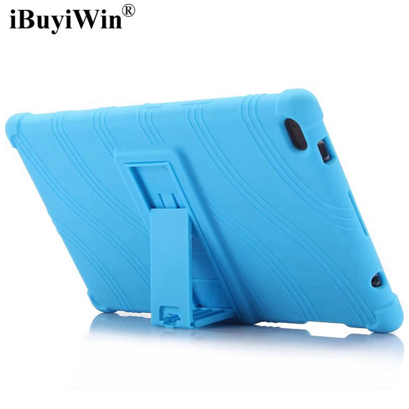 цена на Shock-proof Silicone Case for Lenovo Tab 4 8 TB-8504F/8504N/8504X 8.0 inch Tablet ,Ultra-thin Rubber TPU Funda Cover+Touch Pen