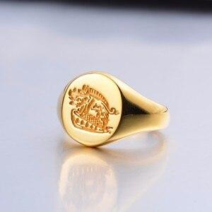 Мужские и женские кольца Kingsman The Секретная служба, кольца-печатки золотого цвета из стерлингового серебра 925 пробы, ювелирные изделия по инд...
