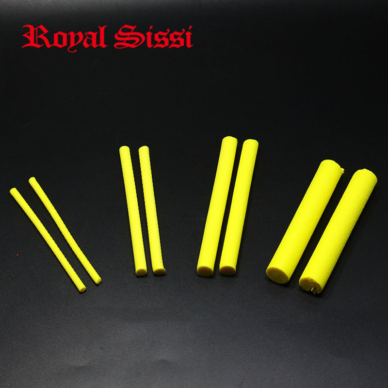 3mm 5mm 8mm 12mm yellow fly tying foam cylinders  parachute posts floating hoppers &wiggle fly tying materials for body extended