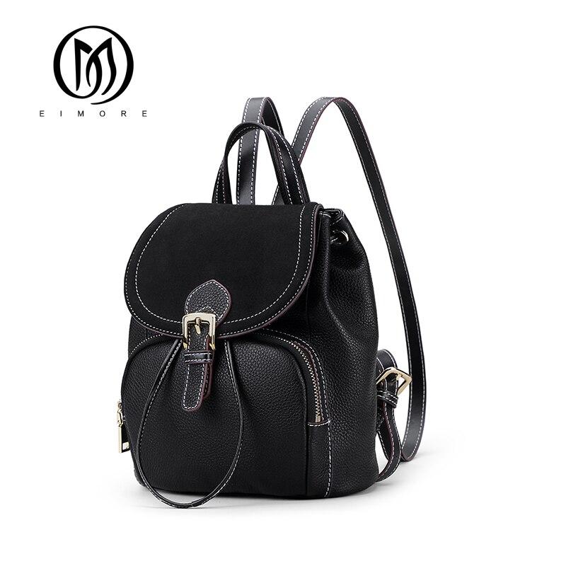 EIMORE 100% sac à dos en cuir véritable femmes sac de luxe Designer femme sacs à bandoulière mode 2019 nouveau sac à dos pour les femmes