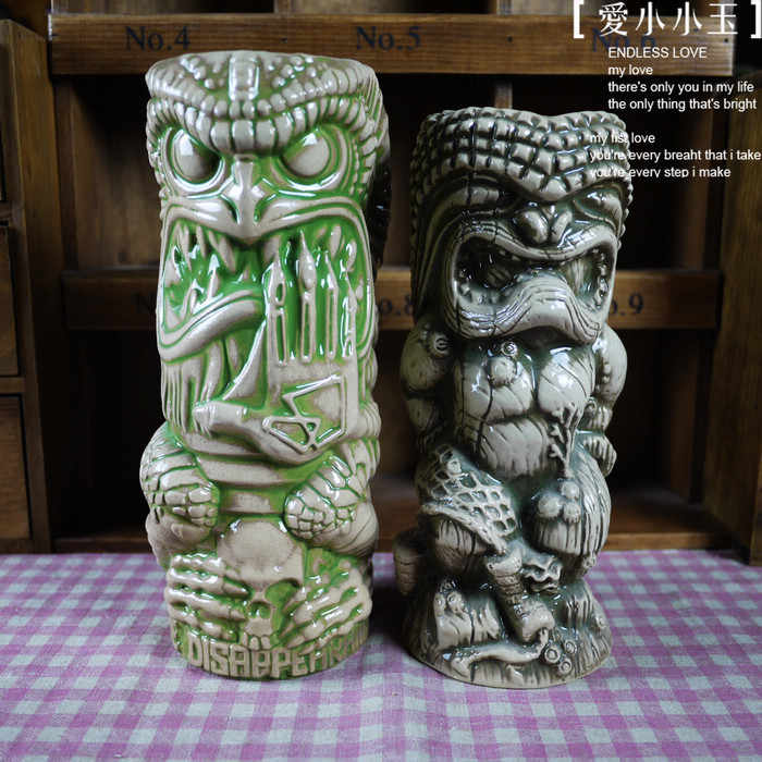 Hot Sales Maori Totem American Collection Bar Furnishing Articles Tiki Cup Hawaii Home Decoration Ceramic Mug Creative Cup