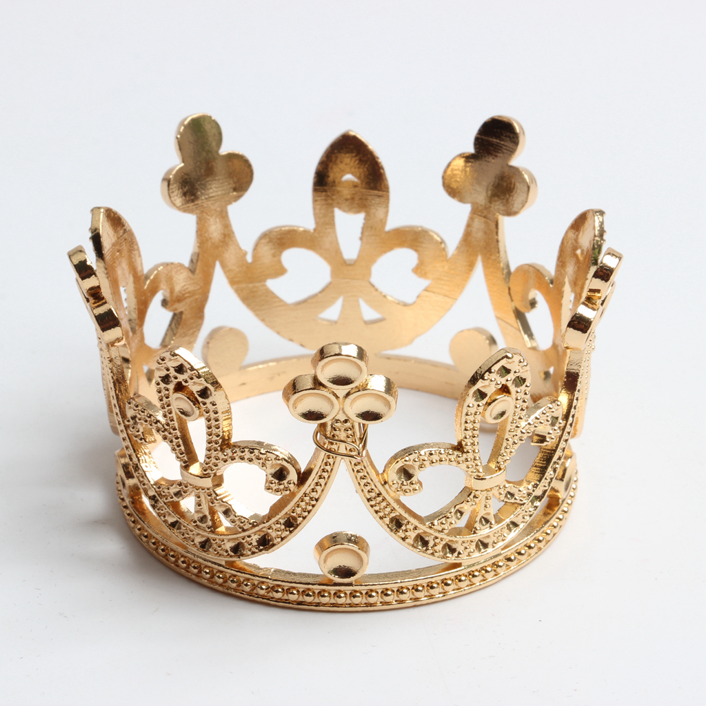 2 pcs Baroque Wedding Mini Flower Girls Rhinestone Crown Bridal Tiara Headwear Hairwear Hair Crown tiaras Accessories Gold