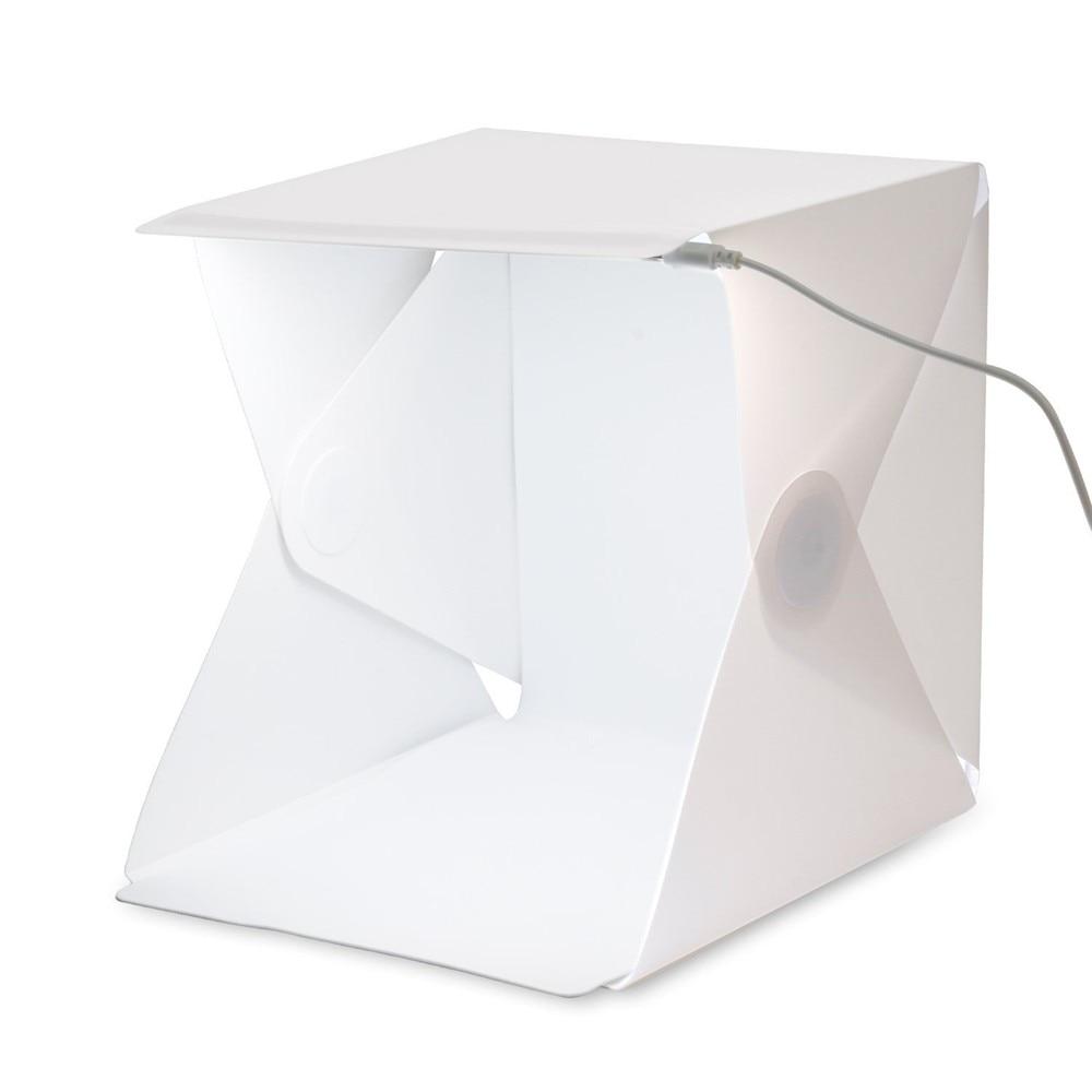 YIXIANG skládací Studio přenosné fotografické studio Mini skládací softbox s USB LED osvětlením Stolní černé bílé pozadí měkké