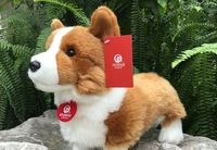 new arrival lovely simulation corgi dog plush toy about 30cm soft doll toy birthday gift s0269