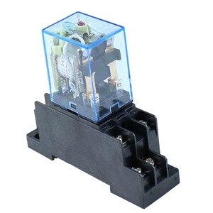 Image 5 - 10 stks MY2P HH52P MY2NJ 12 v 24 v DC/110 v 220 v AC coil algemene doel DPDT micro mini relais met socket base