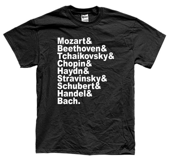 FAMOUS COMPOSERS CLASSICAL t-shirt short sleeve many colors unisex More Size and Colors-B007 image