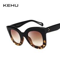 KEHU Novas Mulheres Marca Grife Clássico Rebite k9247 Shades Big Quadro  óculos de Sol óculos de 27ac249cf3