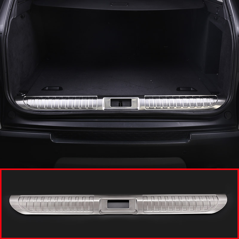 Stainless Steel Rear Inner Door Bumper Protector Plate Trim For Land Rover Range Rover Sport 2014-2018 Car Accessories stainless steel inner door sill scuff plate for land rover range rover sport 2014 2017 welcome pedal trim car accessories