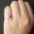Increíble Sólido 14 k 585 Oro Blanco 1 Carat ct No Menos de GH Color de Compromiso del Laboratorio Crecido Moissanite Diamante anillo