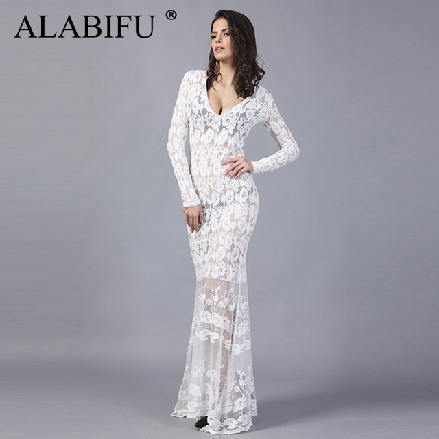 5be8d95125a4d US $25.98 |ALABIFU Summer Dress Women 2019 Vintage Sexy Hollow Out Lace  Dress Elegant Bodycon Long Party Dress White Maxi Vestidos ukraine-in  Dresses ...