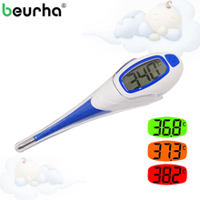 Beurha Digital LCD Heating Baby Thermometer Tools High Quality Kids Baby Child Adult Body Temperature Measurement
