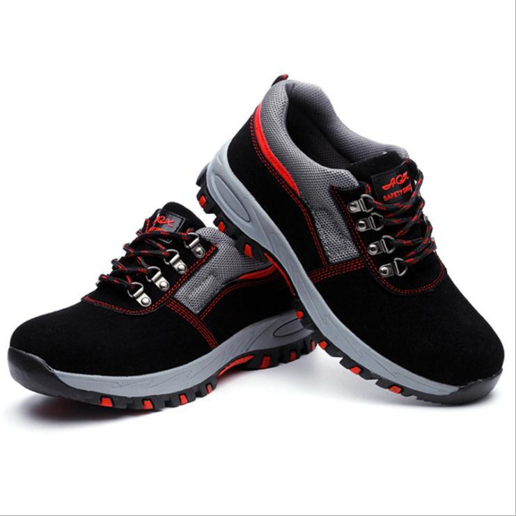 Steel Toe  Safety Boots Ankle Wilderness Survival Safty Anti-smashing Steel Mid-plate  Safety Shoes #GH107
