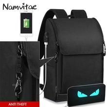 Namvitae Для мужчин Водонепроницаемый рюкзак Анти-Вор USB зарядки 17 дюймов ноутбук рюкзак мальчик школа мешок большой Ёмкость Повседневное путешествия Сумка