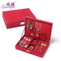 Guanya Mode bijoux Accessoires marque boîte plaque boucles d'oreilles boîte de rangement anneau de mariage cadeau d'anniversaire 11 couleurs 28*19*6.5 cm