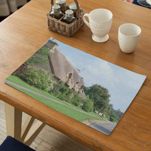Fashion Landscape Pattern Table Mat Placemat Kitchen Decoration Drink Coaster Cotton Linen Pad Cup Mat Multifunction