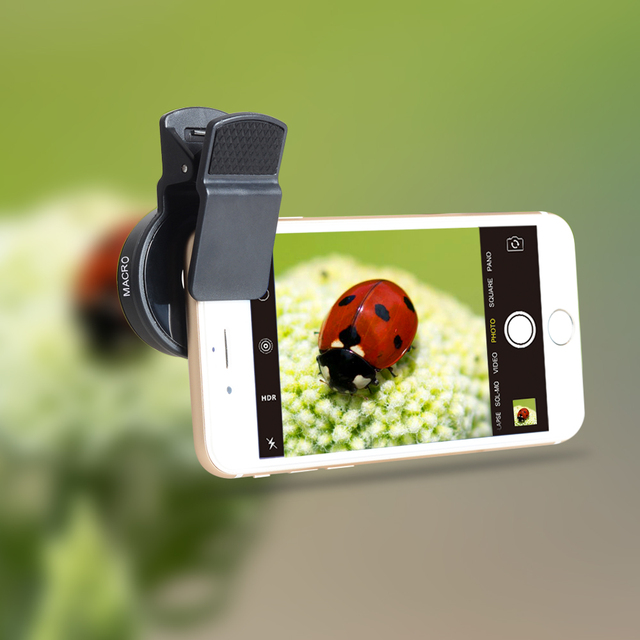 New HD 37MM 0.45x Super Wide Angle Lens with 12.5x Super Macro Lens for iPhone 6 Plus 5S 4S Samsung S6 S5 Note 4 Camera lens Kit 4
