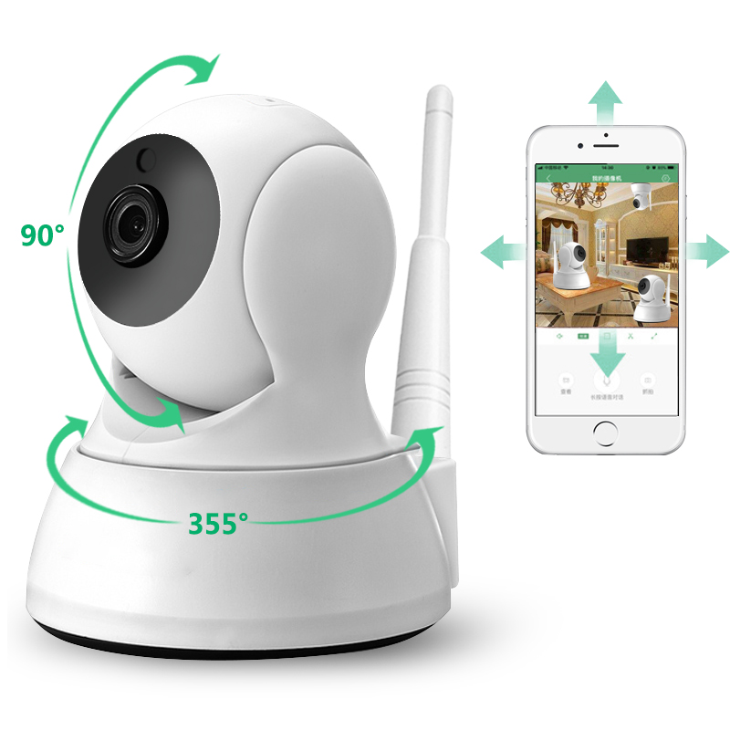 720P Home Security IP Camera Two Way Audio Wireless Mini Camera 1MP Night Vision CCTV WiFi Camera Baby Monitor ICsee