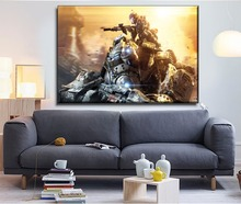 1 Panels Modern Artwork Home Decorative Boys Bedroom Wall Art Titanfall Game Poster HD Printed Canvas Painting Unique Gift