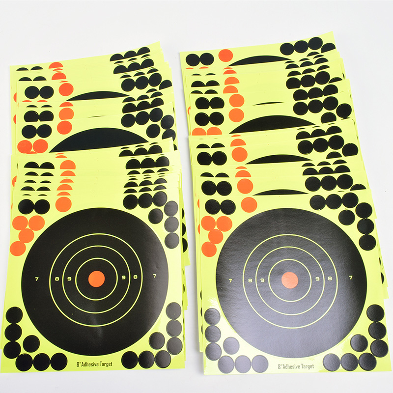 """Image 5 - 50PCS Adhesive Shooting Targets Glow Shot Reactive  8"""" Splatter Gun and Rifle Target Paper-in Paintball Accessories from Sports & Entertainment"""