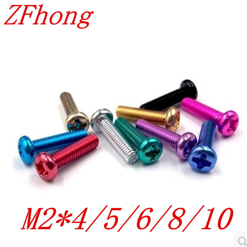 500pcs m2*4/5/6/8/10 colourful aluminum phillips pan  head machine screw чехол для iphone 6 plus 6s plus cozistyle leather skin bumper cph6 b010 black