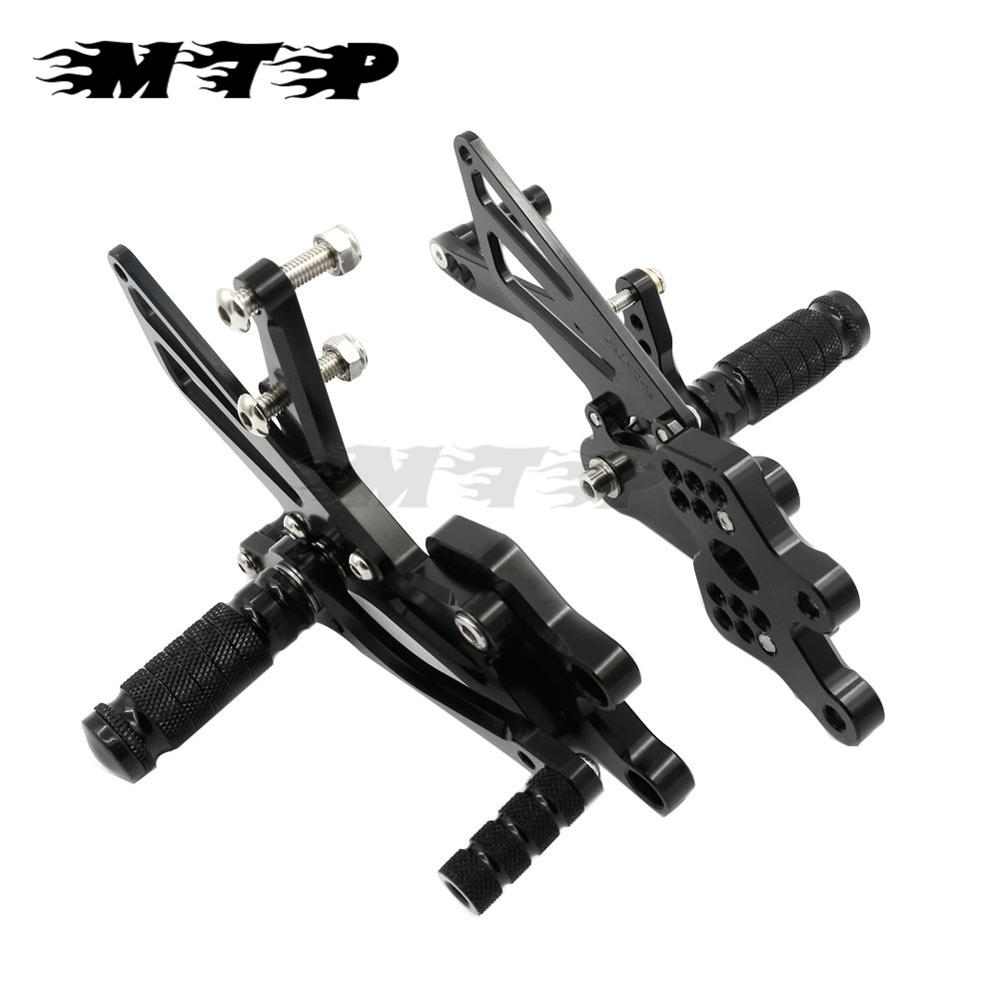 Motorcycle Rear Sets 2004-2005 ZX 10R CNC Aluminum Adjustable Foot Pedals Rests Pegs Rearsets For Kawasaki ZX10R ZX-10R 04 05