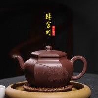 Необработанная руда, фиолетовая глина, рекомендованная оптовая продажа, агент Чжи Ганг Као ручной работы, короткий дворцовый фонарь, чайник