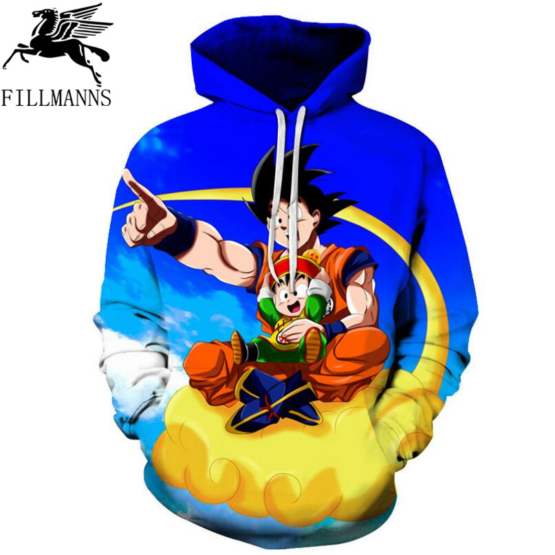 Dragon Ball 3D Hoodie Sweatshirts Men Women Hoodie Dragon Ball Z Anime Fashion Casual Tracksuits Boy Jackets Hooded Pullover