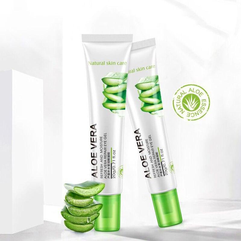 BIOAQUA Aloe Eye Cream Gel Natural Skin Care Whitening Moisturizing Anti-aging Wrinkle Remove Dark Circles Snail Cream