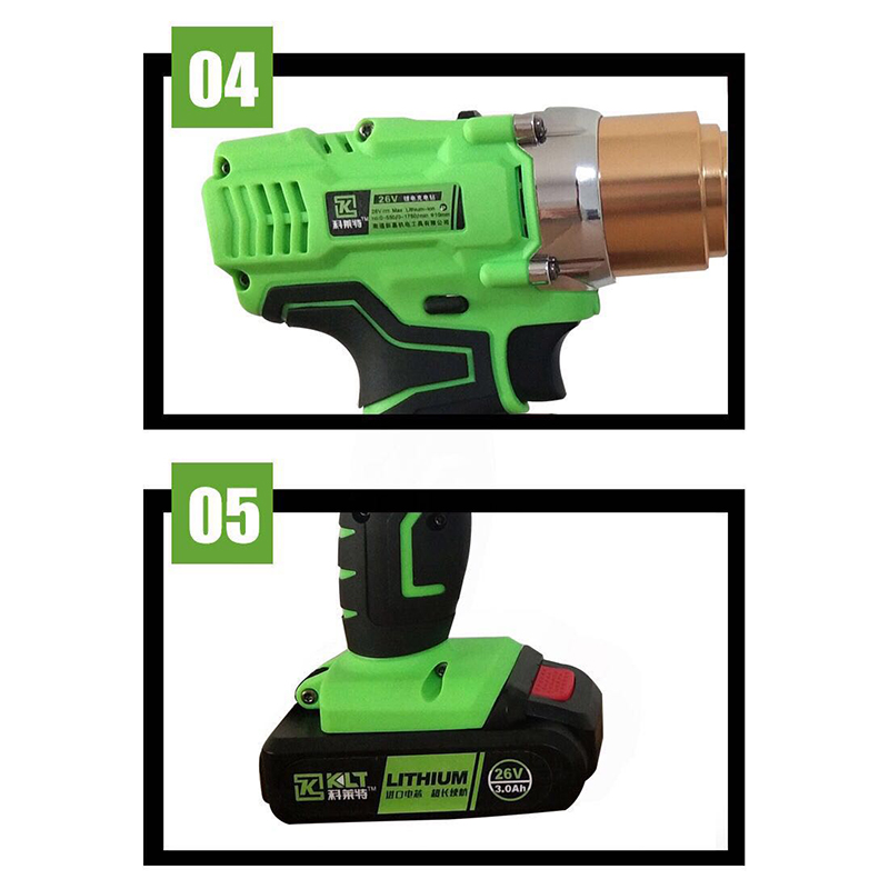 Купить с кэшбэком 26v 3000mAh portable cordless electric rivet gun rechargeable riveter battery riveting tool pull rivet nut tool + 2 batteries