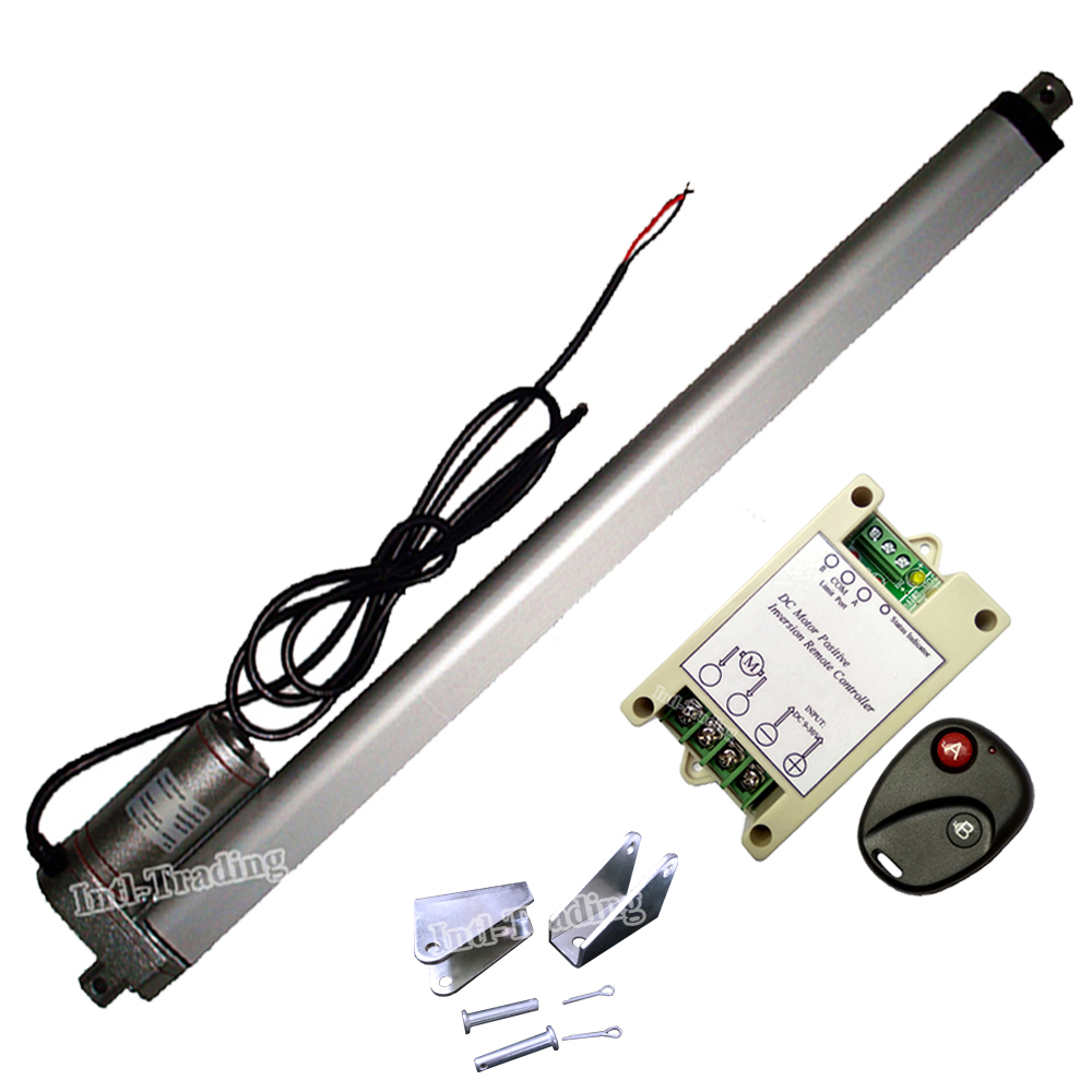 150KG 1500N Load Multi function DC 12V 450mm 18 Inch Stroke IP65 Linear Actuator Wireless Remote