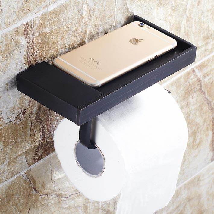 New creative multifunction oil oil rubbed bronze Creative toilet paper holder