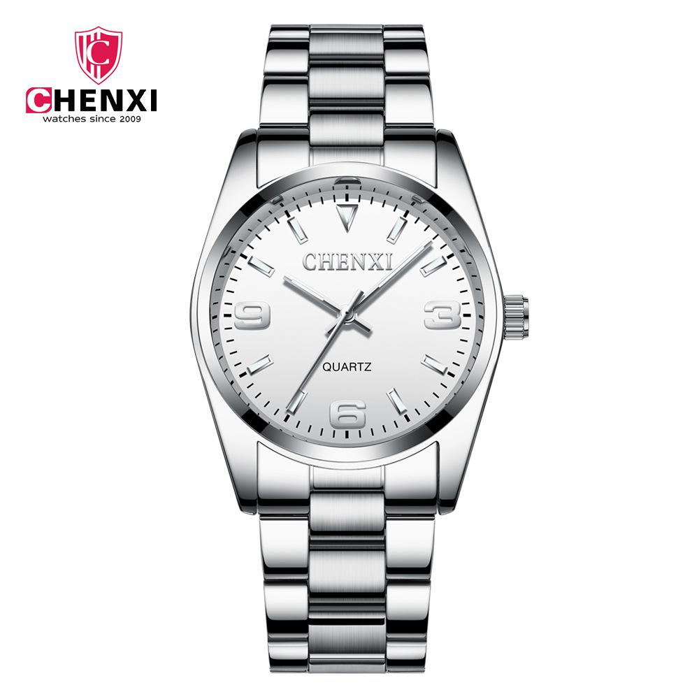 Fashion Chenxi Brand Female Student Full Steel Casual Dress Gift Clock Waterproof Couple Cross Border Quartz Wrist Watch 003a