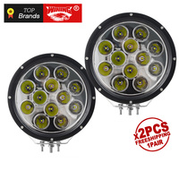 WINING 1 pair 9 inch Round 120W LED Work Light 12V 24V Spot For 4x4 Offroad ATV Truck Tractor Motorcycle Driving DRL Light