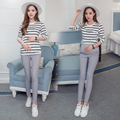 2016 New fashion Spring autumn cotton maternity trousers Wears outside pregnant women leggings pencil pants