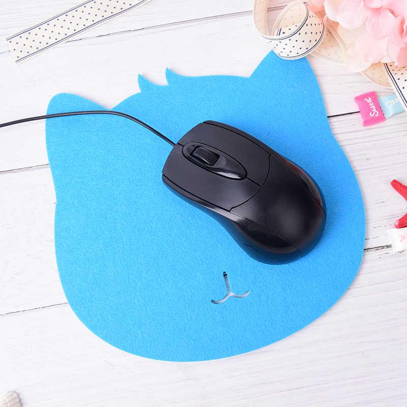 1 pc Creativo Ottico Trackball PC Addensare Mouse Pad Panno di Feltro Universale Cute Cat MousePad Zerbino per il Computer Portatile Del Computer Tablet PC