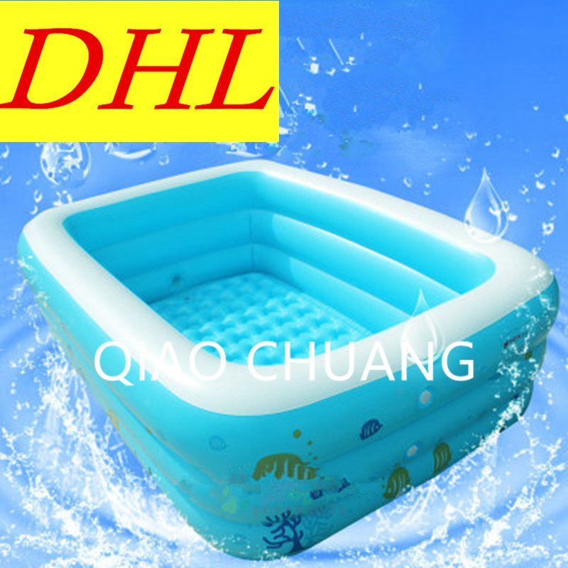 Inflatable Bath Bucket Play With Water Bath Thicken Tricyclic Pool Baby Swimming Pool PVC Outdoor Toys G959 dual slide portable baby swimming pool pvc inflatable pool babies child eco friendly piscina transparent infant swimming pools