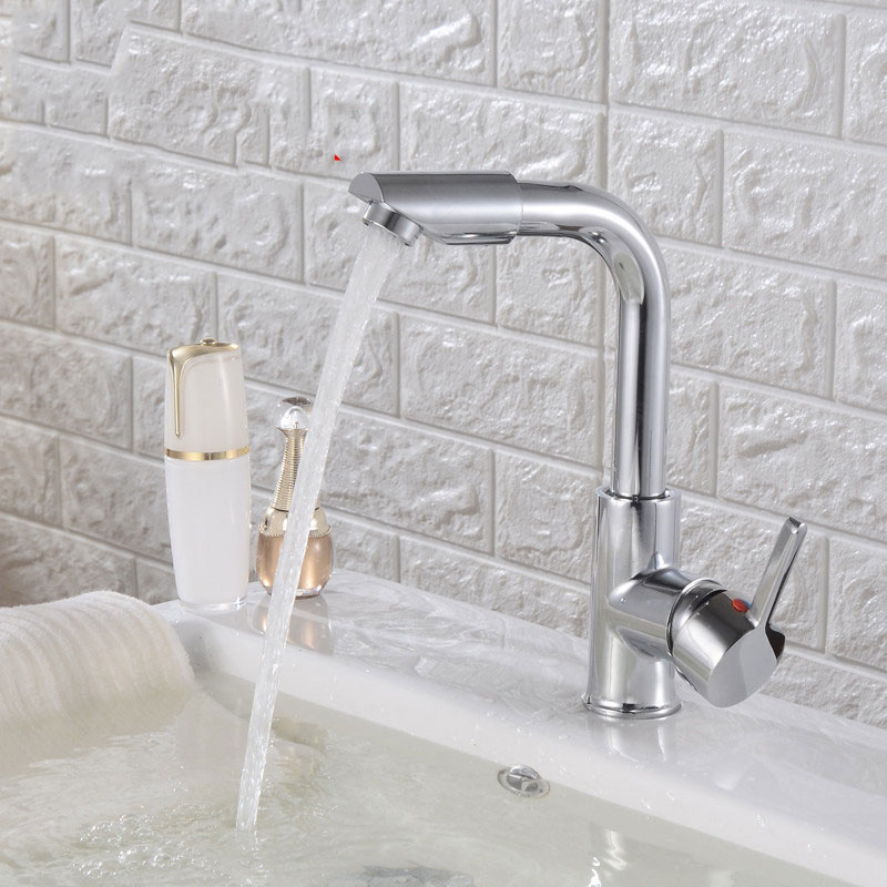 цена Bathroom Basin Sink Faucets Mixer Cold Hot Water 360 Degree Swivel Easy Wash for Basin/Kitchen Faucet Basin Sink Mixer Faucets