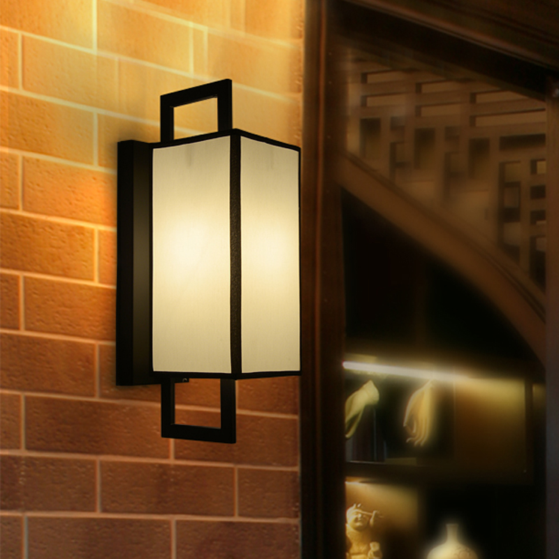 New Chinese style wall lamp Living room bedroom bedside Simple modern Corridor wall lamp Creative hotel engineering lights the new chinese iron wall lamp bedside lamp wall lamp rectangular chinese bedroom living room antique hotel wall light