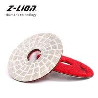 Z-LION 80 мм алмазная шлифовальная подушечка вакуумной пайки полировка колеса сухой мокрой шлифовальный диск для гранит, мрамор, камень абрази...
