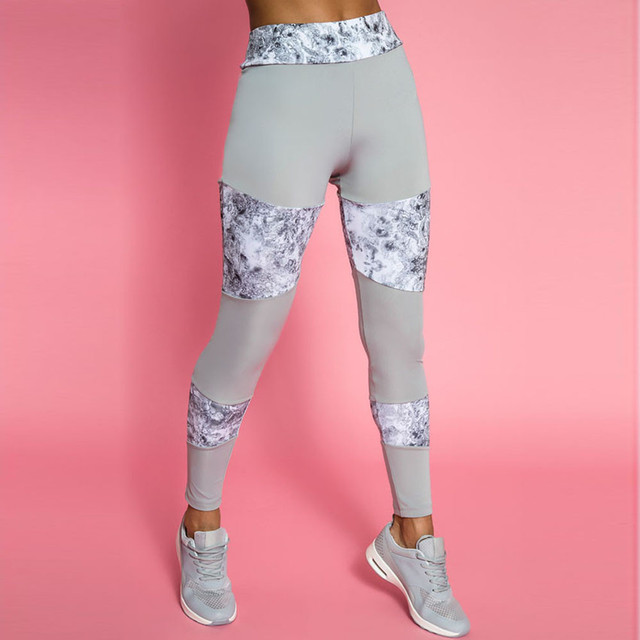 b768fd20ae8 Women Splice Workout Leggings Fitness Gym Running flexible track Pencil  Pants sports trousers Sweatpants Sportswear  45