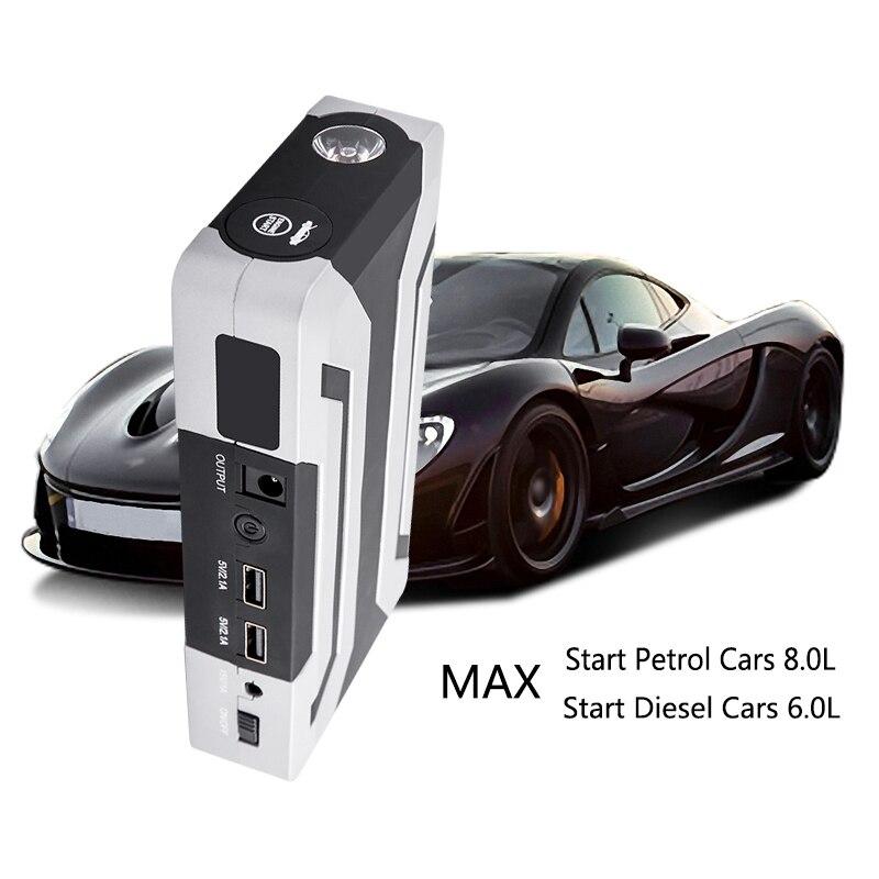 Mobile di Potere 15000Mah Auto Starter Booster Usb Faro Di Emergenza del Caricatore Nero + Bianco Abs Spina Degli Stati Uniti - 3