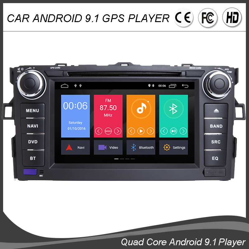 7 Inch Android 9.0 Quad Core Car DVD GPS Player For <font><b>TOYOTA</b></font> AURIS <font><b>Multimedia</b></font> Stereo Auto Radio Navigation Wifi/4G BT MAP DVR DAB+ image
