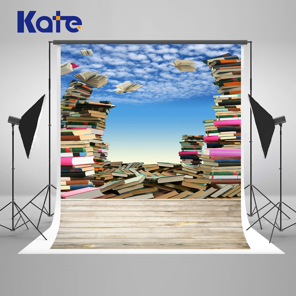 Kate 6.5x10ft (200x300cm)Back To School Photo Studio Background Backdrop Books Students Kids Washable Photoraphy Background kate photo background scenery