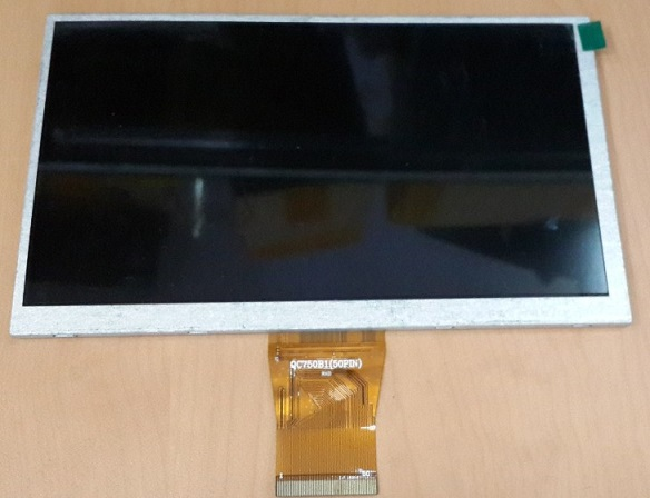 7 -inch LCD screen 800X480 50P lithographic computer screen within QC705B1 (50PIN)