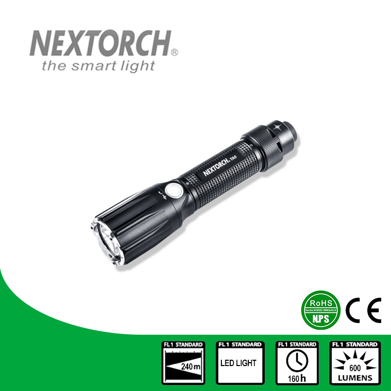 NEXTORCH Flashlight 18650 Battery 900 Lumen CE RoHS Standard 6 Modes Shock Resistant LED Duty Light Tactical Flashlight #TA5 nextorch flashlight ent 4 2 lumen aaa battery penlight for teeth inspection and ent care doctor k3