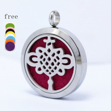 With chain as gift!  AromaPendant 10pcs(Free Pads) stainless steel Diffuser Locket 30mm Perfume
